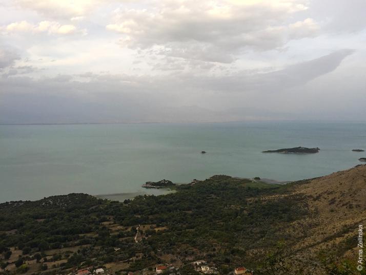 Скадарское озеро с высоты, Черногория