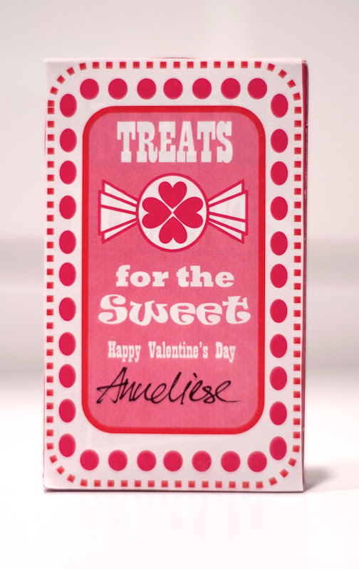 Aesthetic Nest Cards Valentine Candy Heart Box Labels (Free Printable)