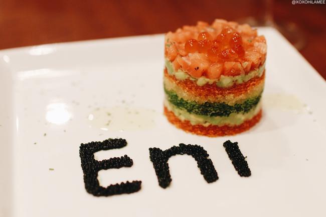 シーフードビストロ魚卵House Eni 魚卵のミルフィーユ