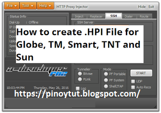 How to Make HPI  for Globe, TM, Smart and Sun 2017