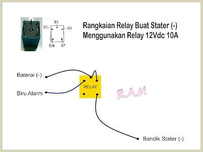 Pasang Relay 4 Kaki Pada Yamaha Byson Sebagai Stater Dari ...