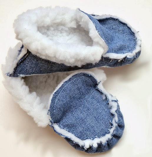 Как сшить тапочки из джинс? Slippers from jeans