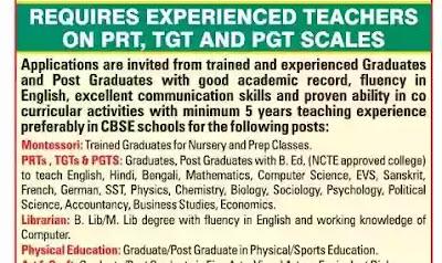 School Teacher Jobs In Kolkata For Fresher 2021