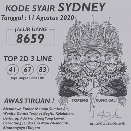 Kode Syair SDY Selasa 11 Agustus 2020