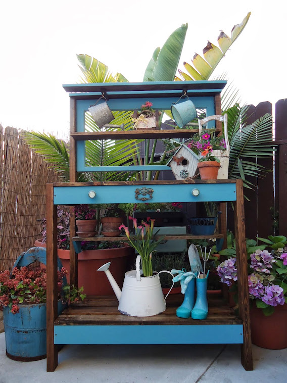 1930s Window Table/Potting Bench - SOLD