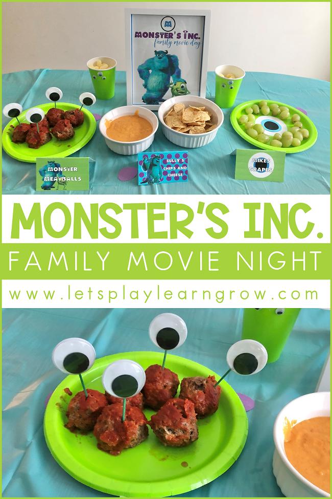 Monsters Inc Family Movie Night