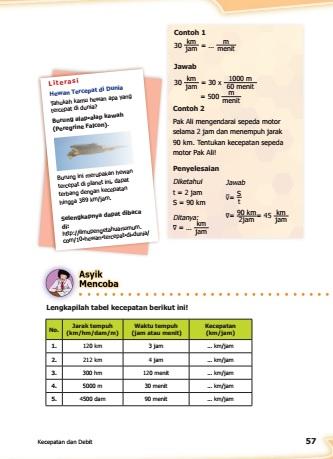 kunci jawaban buku senang belajar matematika kelas 5 halaman 57