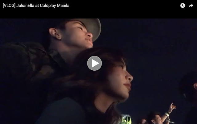 Watch how JulianElla enjoyed Coldplay Manila