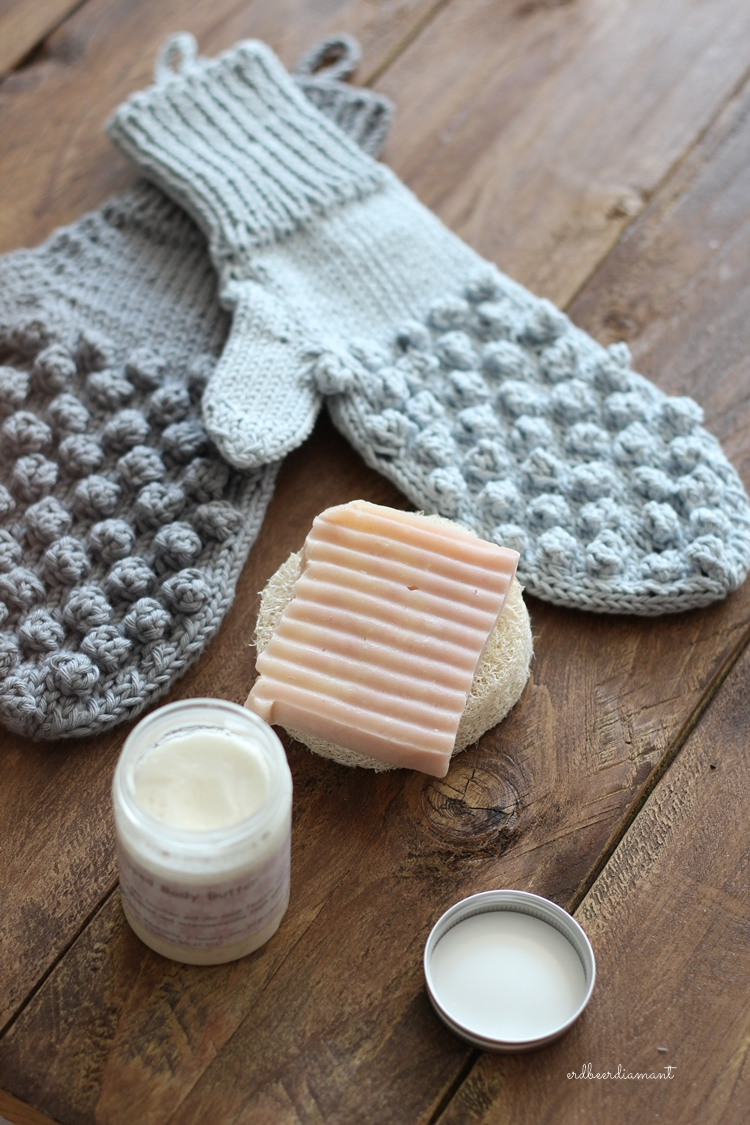 DIY   Duschhandschuh   Knitted gifts