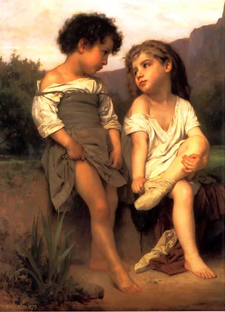 Адольф Вильям Бугро - У ручья (1879)