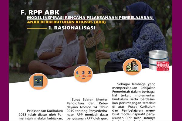 RPP ABK SLB 1 Halaman Resmi dari Pusat Kurikulum Kemendikbud, Download RPP Inspiratif 1 Halaman jenjang SLB Resmi dari Pusat Kurikulum Kemendikbud