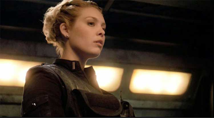 Alaina Huffman as TJ in Stargate Universe