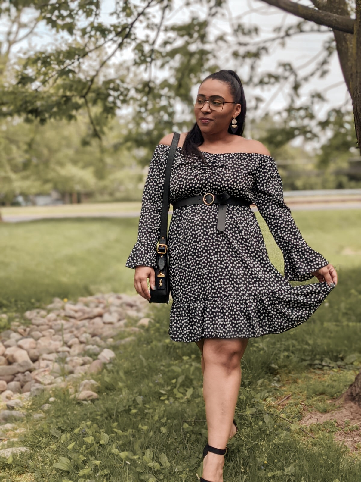 shein, shein reviews, shein dress, summer outfit ideas, pattys kloset, floral summer dresses, off the shoulder dress