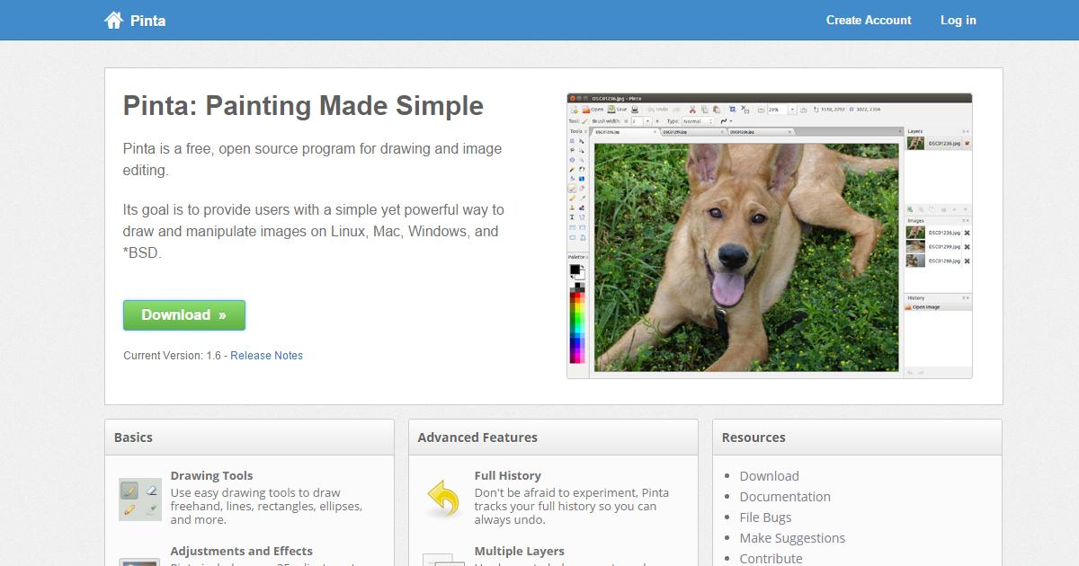 Pinta 免費中文圖片編輯軟體,如小畫家簡單卻更強大