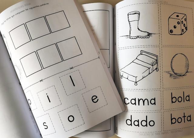 imprimible montessori lectura