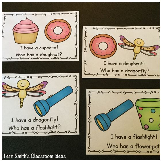 I Have, Who Has? Cards for some Compound Word Fun. Fern Smith's Classroom Ideas.