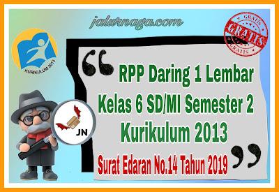 RPP Daring 1 Lembar Kelas 6 Semester 2