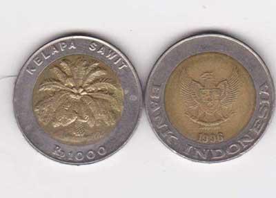 Uang Rp 1000,00 Tahun 1996