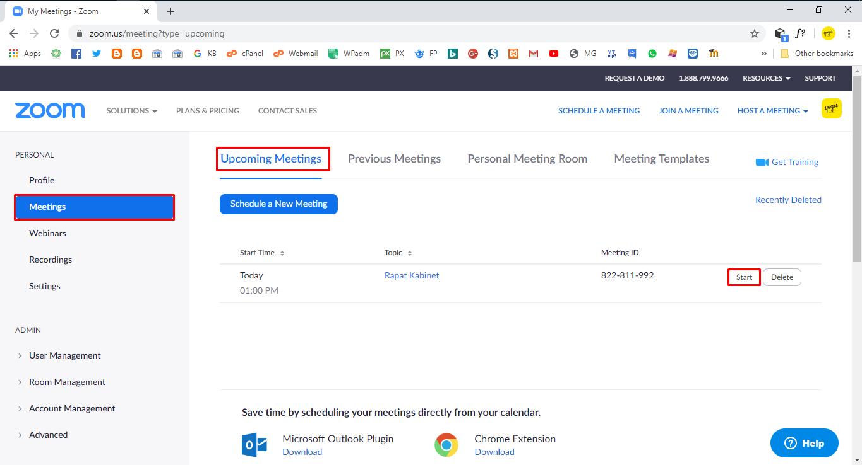 Cara Membuat Jadwal Meeting di Zoom (Schedule A Meeting)