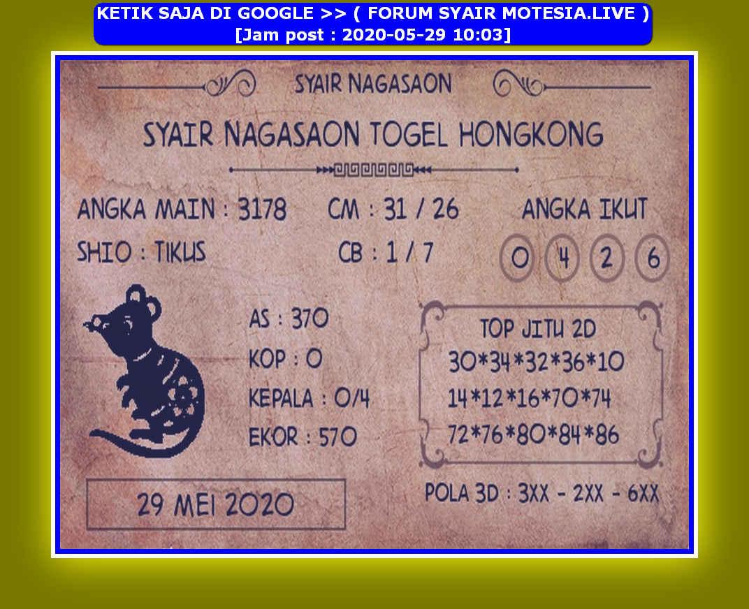 Kode syair Hongkong Jumat 29 Mei 2020 106