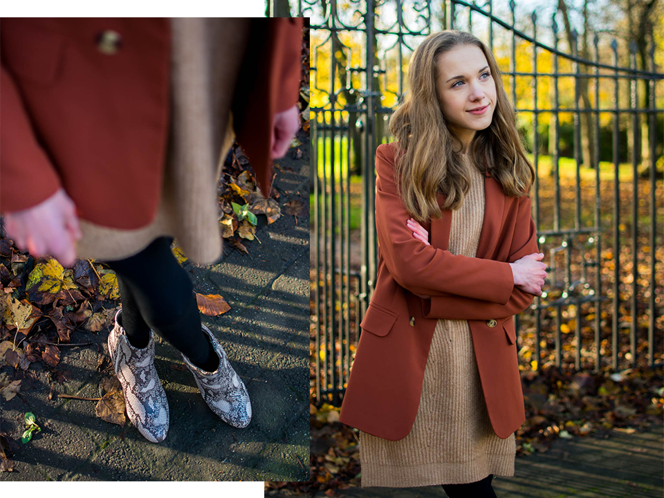how-to-style-rust-blazer-for-autumn