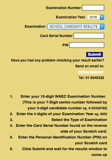 Check WAEC Result 2018 for May/June Session Here Online