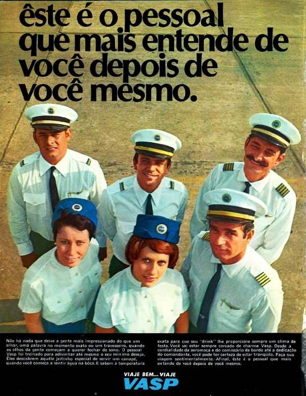 Campanha da VASP veiculada no final dos anos 60 em valorização aos clientes