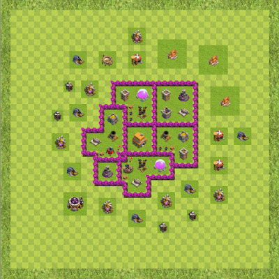 War Base Town Hall Level 6 By Anuraag (Defensive TH 6 Layout)
