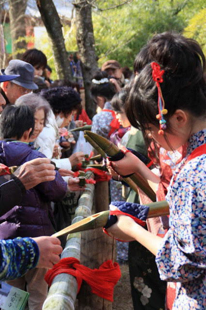 Sake as Cancer Drug (Sasa-Zake Matsuri) at Daianji Temple, Nara City