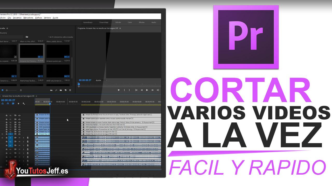 Como Cortar Varios Vídeos en Premiere Pro | Fácil y Rápido