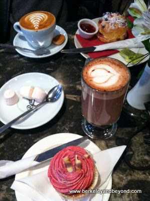 coffees and sweets at Bewley's Cafe & Restaurant in Dublin, Ireland