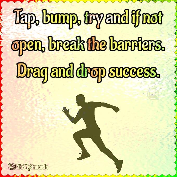 Drag and drop success