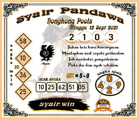 Syair Pandawa HK Minggu 12-Sep-2021