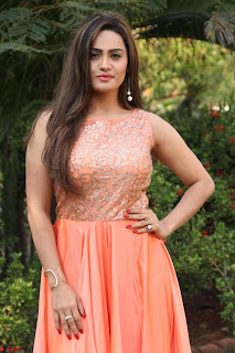 Actress Sakshi in beautiful orange Anarkali Dress Spicy Pics    049.jpg