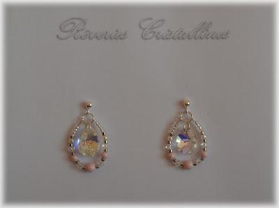 boucles d'oreilles mariage cristal de Swarovski