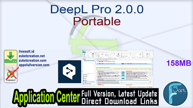 DeepL Pro 2.0.0 Portable