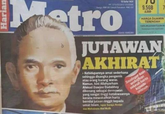 Inilah jutawan yang mewakafkan tanah dan saham bernilai RM56.6 juta ringgit ke jalan Islam