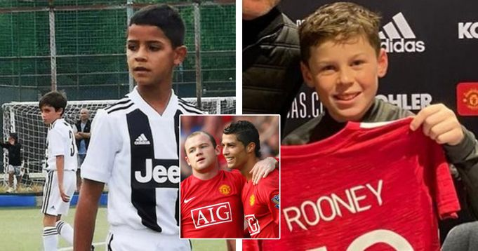 Ronaldo's son and Rooney's kid now plays together at United academy
