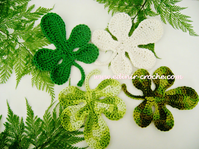 Folhas em Croche com Edinir-Croche Aprender Croche destros e canhotos
