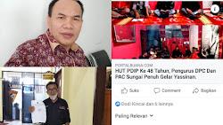 DPC PDIP Sungai Penuh Resmi Laporkan Akun FB Sivondhigar Yang Menghina Partai.