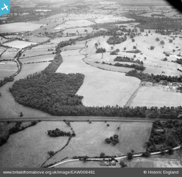 Aerial photograph of Peplin's Wood and Brookmans Park Golf Course, Brookmans Park, 1947