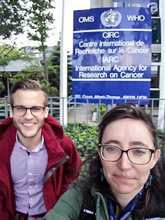 Marieta and Dan at the IARC.