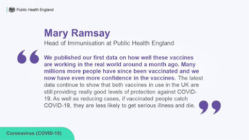 Blah quote about immunisation safety from mary ramsey - all text