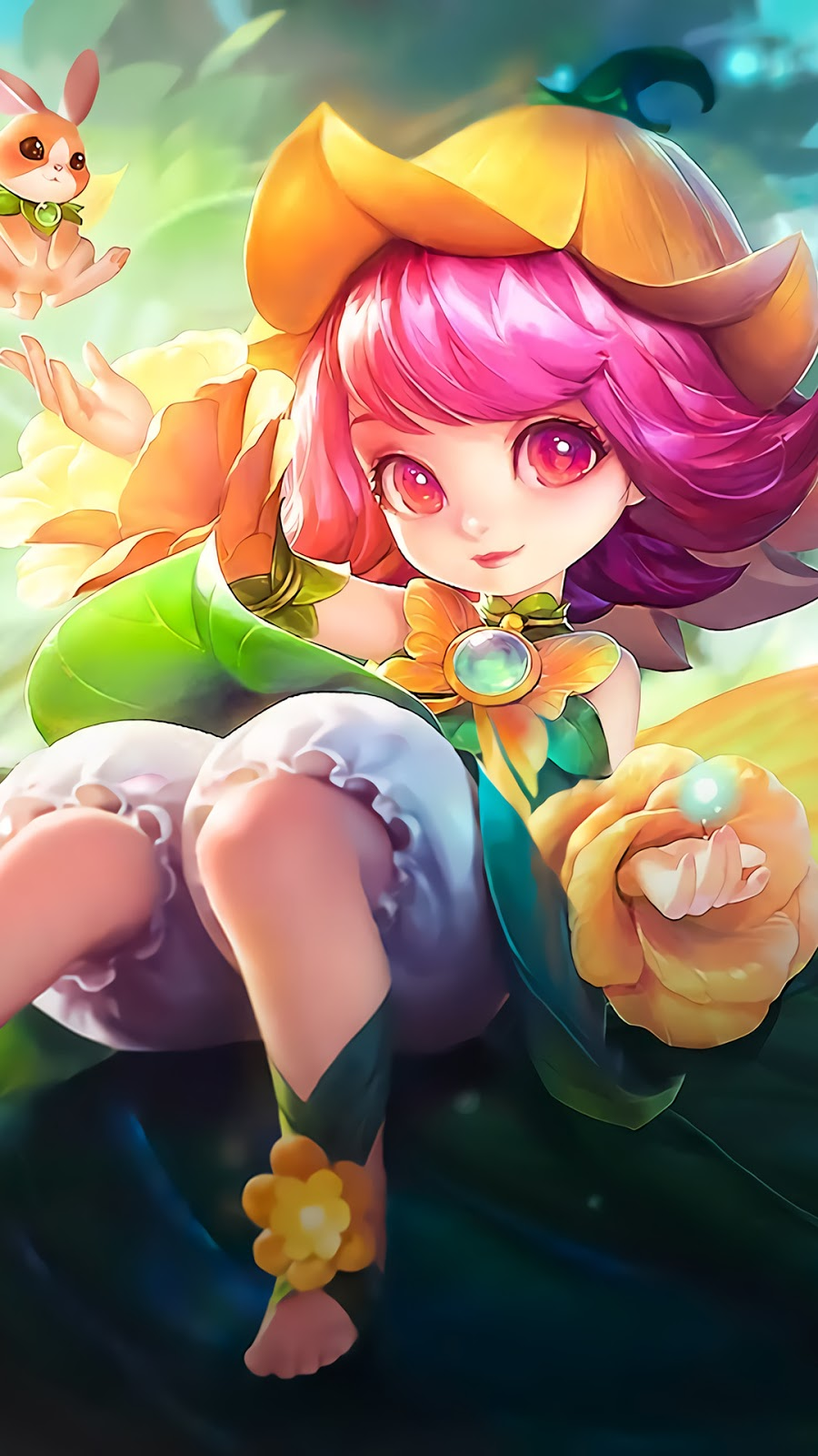 Wallpaper Chang'e Floral Elfo Skin Mobile Legends HD for Android and iOS
