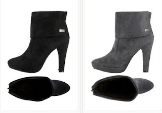 Botines glam color negro o gris