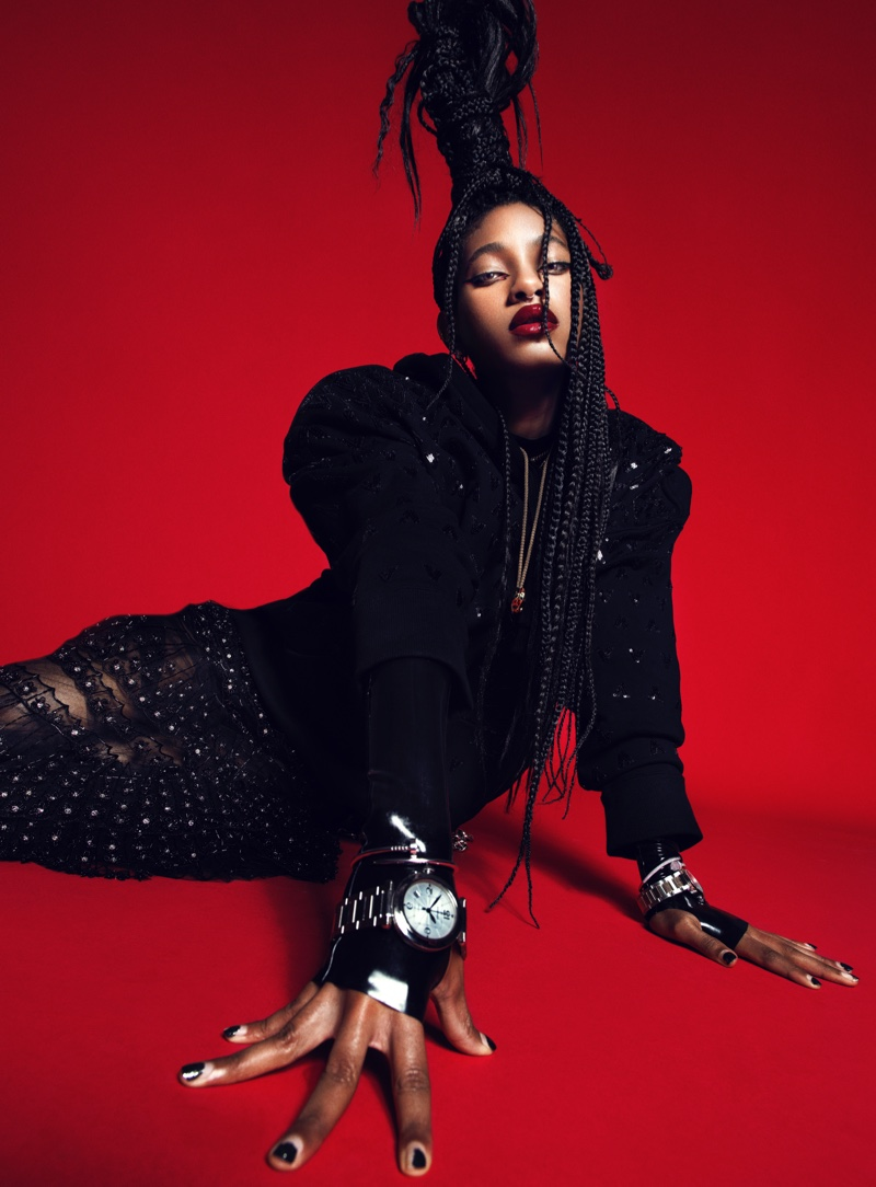 Willow Smith poses in bold fashions for the cover story