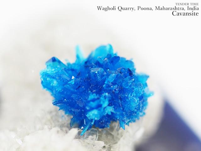 Cavansite Wagholi Quarry, Poona, Maharashtra, India