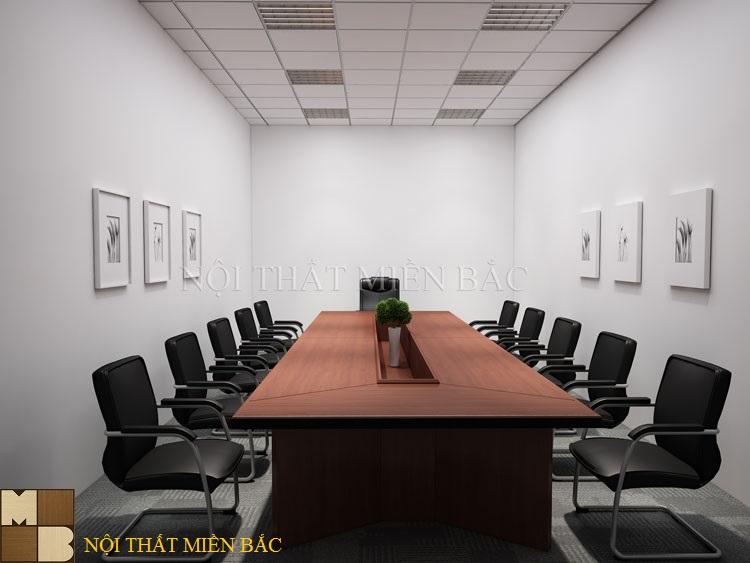 Thiết kế nội thất phòng họp tối giản hóa không gian