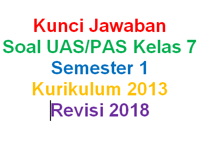 Kunci Jawaban Soal Matematika Kelas 7 Semester 1 Kurikulum 2013 Revisi 2018 Mariyadi Com