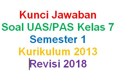 Kunci Jawaban Soal Matematika Kelas 7 Semester 1 Kurikulum 2013 Revisi 2018